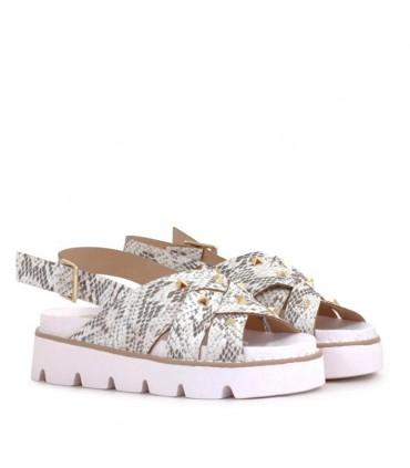 Sandalias de nena en PVC vibora