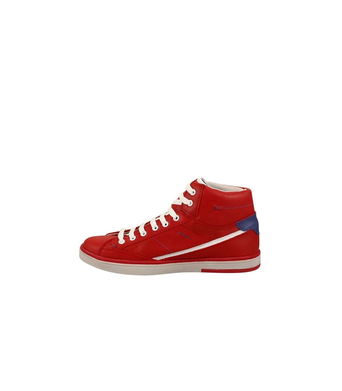 90c6cf83c Zapatillas botitas de cuero rojo