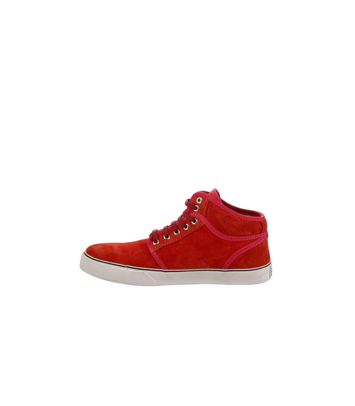 d507a20ce88 Zapatillas gamuzadas rojas