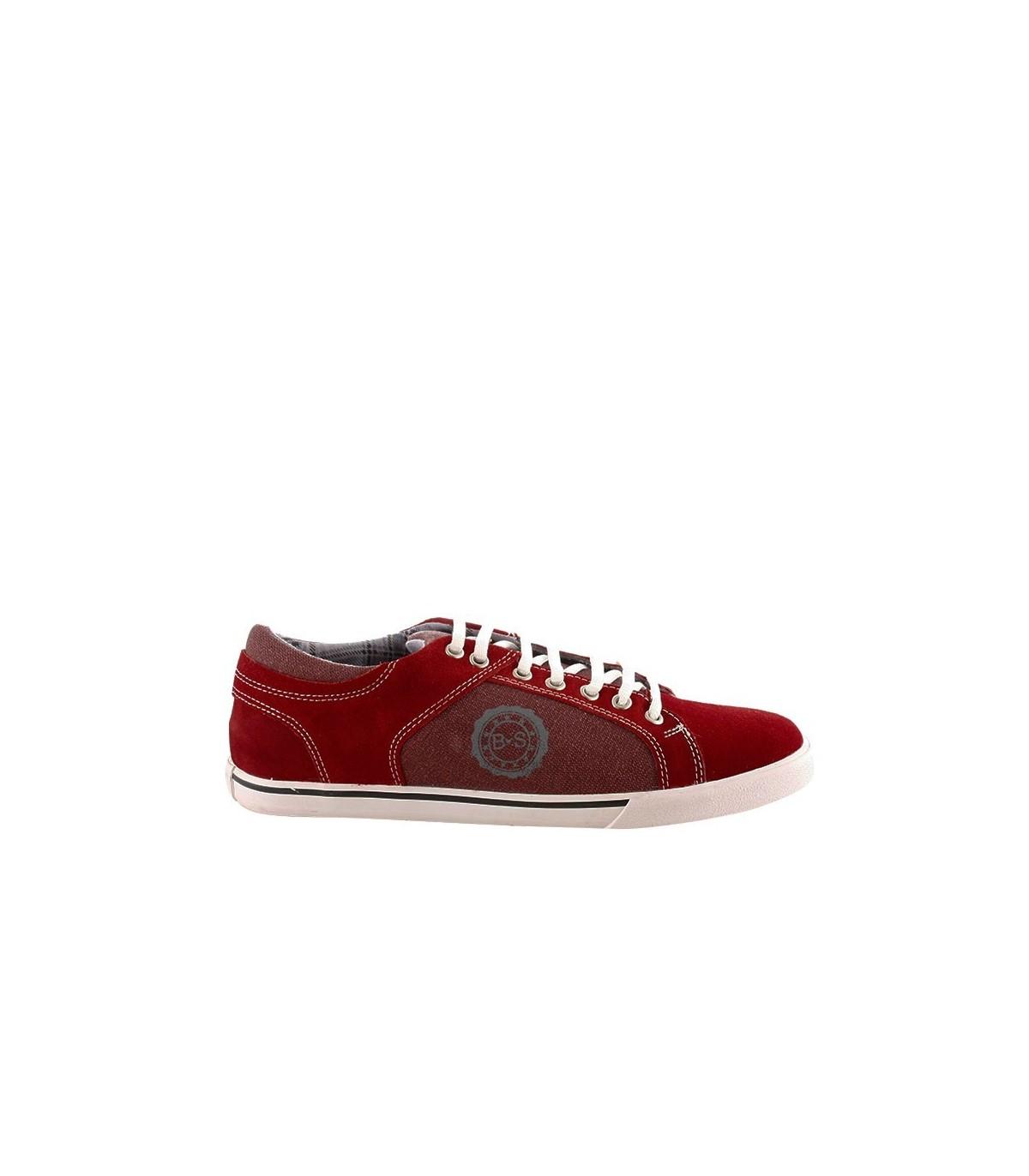 f9a2105823dc1 Zapatillas urbanas de gamuza rojol