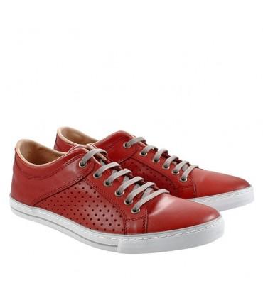 Zapatillas picadas rojas