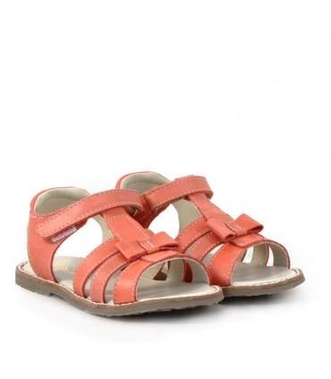 Sandalias de cuero coral