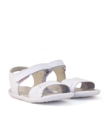 Sandalias de cuero blanco