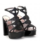 Sandalias de lame negro