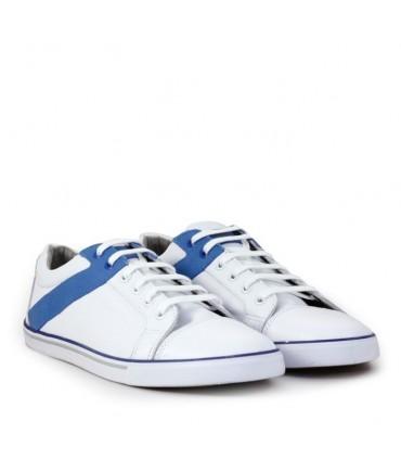 Zapatillas de cuero blanco