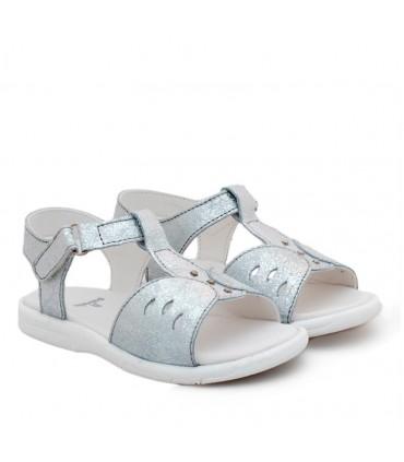 Sandalias de símil cuero plata