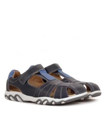 Sandalias de cuero azul