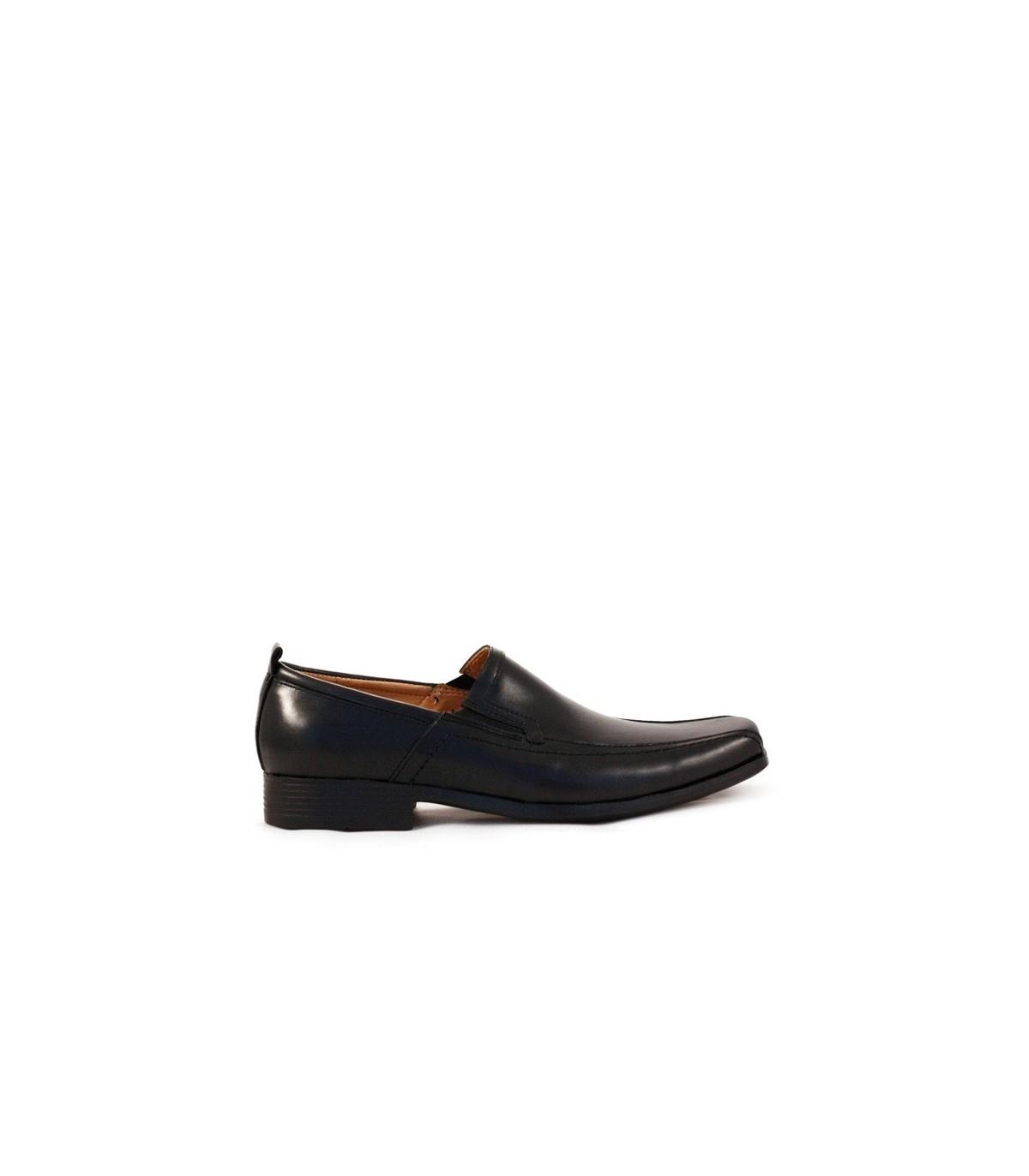 3cc22dfa Zapatos de vestir de cuero negros-Zapatos de vestir de hombre ...