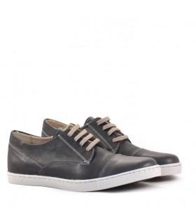 Zapatillas de cuero azul