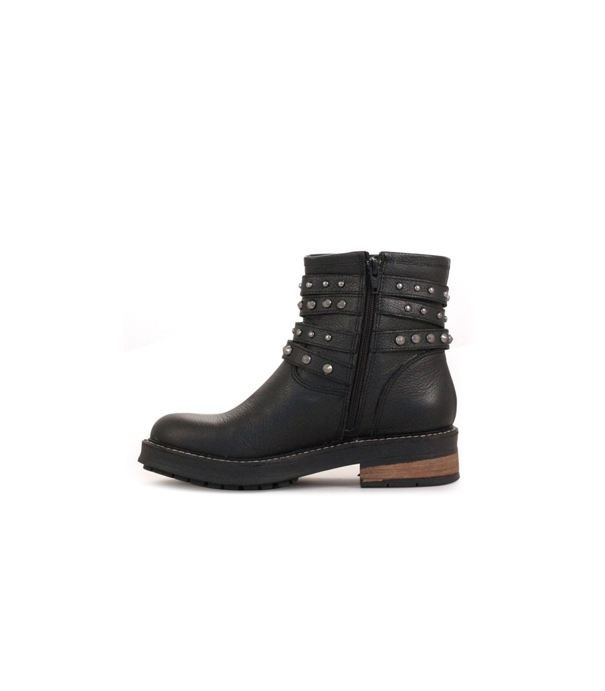 d4dace8a26 Botas de cortas de cuero negro – Botas de mujer – Batistella.com.ar