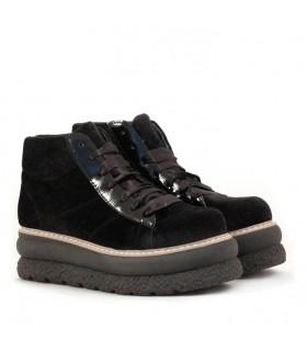Zapatillas de pana en negro