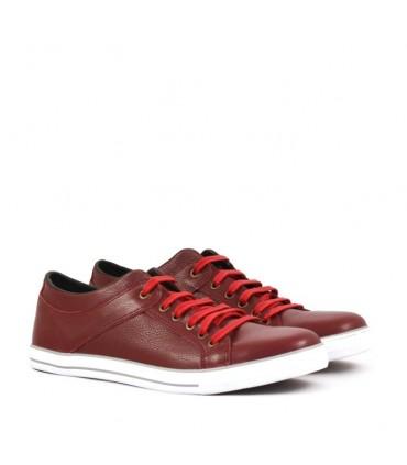 Zapatillas de cuero bordo