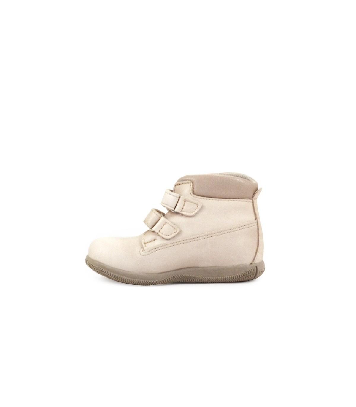 Zapatillas botitas de cuero en visón 0437334e1a153