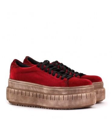 Zapatillas de terciopelo bordó - CONCEPT