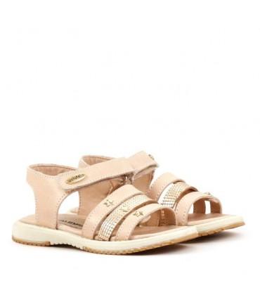 Sandalias en crudo/oro