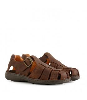 Sandalias de cuero marrón