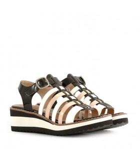 Sandalias caladas de rol negro/blanco