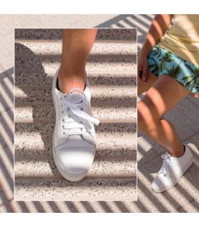 Zapatillas de cuero blanco - CONCEPT