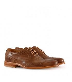 Zapatos de vestir en cuero brush/marrón