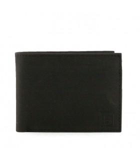 Billeteras clásicas de cuero en negro