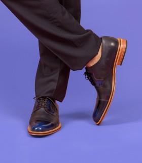 Zapatos de  vestir en charol azul