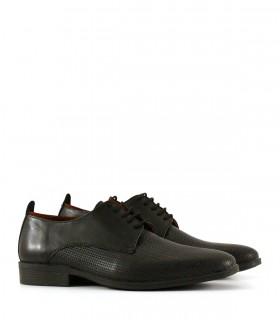 Zapatos de vestir en cuero negro trenzado