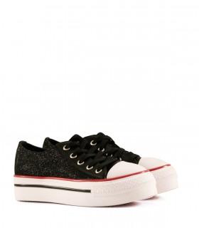 Zapatillas de tela en negro