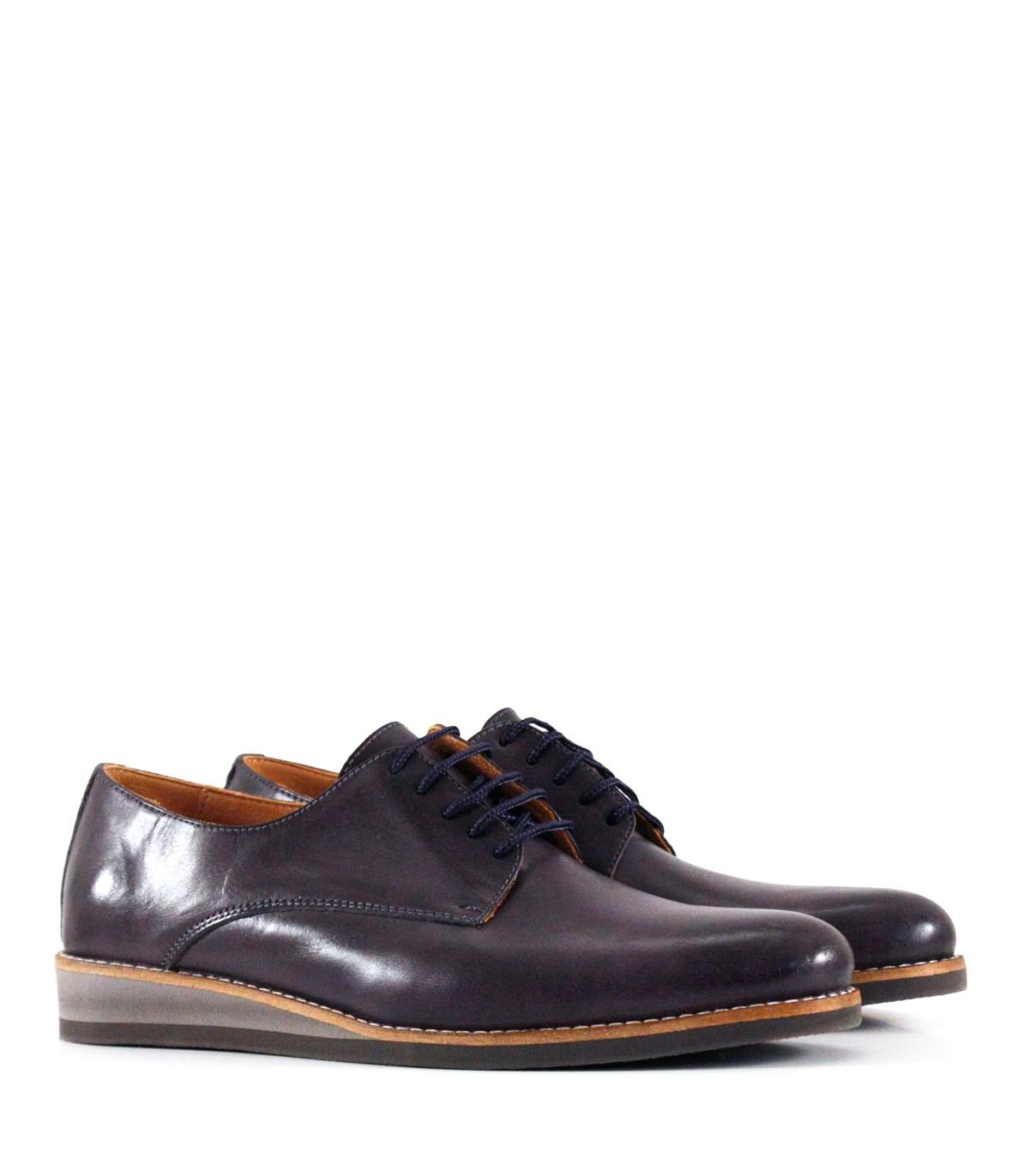 ab108e876bf Zapatos de vestir en cuero azul