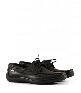 Zapatos náuticos de cuero negro