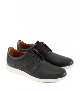 Zapatos urbanos en cuero azul