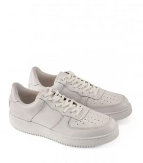 Zapatillas urbanas con estilo de cuero blanco