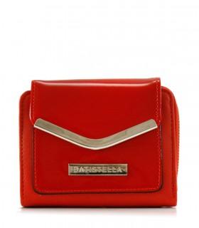 Billeteras de símil cuero con charol en rojo