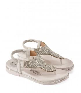 Sandalias de símil cuero blanco