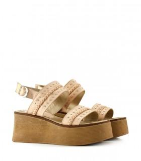 Sandalias bases de cuero nude