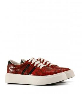 Zapatillas urbanas en reptil rojo
