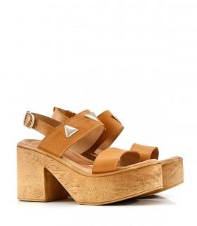 Sandalias altas de cuero suela